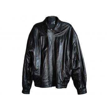 Мужская черная кожаная куртка TORUS, 3XL
