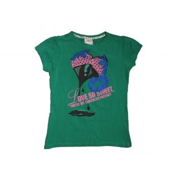 Зеленая футболка для девочки 7-9 лет FUNKY CHICKS