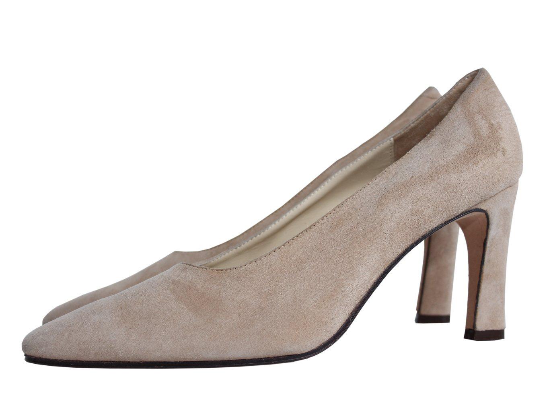 Женские бежевые замшевые туфли JOSEPH AZAGURY 39 размер