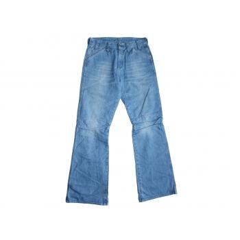 Мужские голубые джинсы клеш G-STAR RAW W 30 L 33