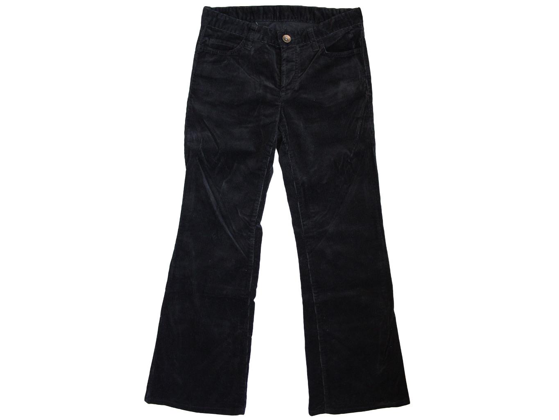 Женские черные вельветовые расклешенные брюки