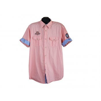 Рубашка мужская кораллового цвета SMOG, XL