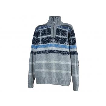 Мужской шерстяной свитер в полоску HUMAN NATURE, L