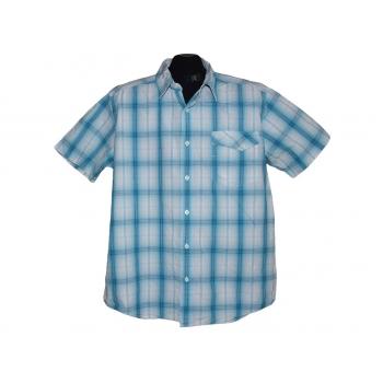 Мужская синяя рубашка в клетку WRANGLER, L