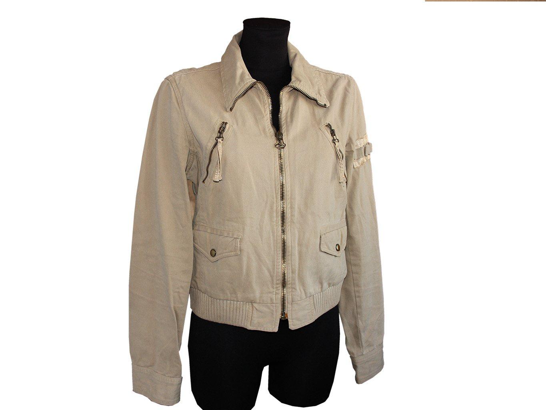 Женская бежевая куртка ZARA, M