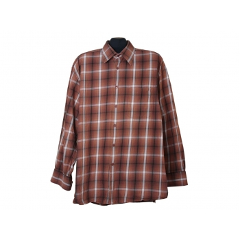 Мужская коричневая рубашка в клетку BIAGGINI, XXL