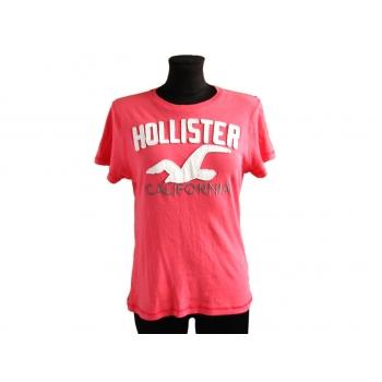 Женская футболка алого цвета HOLLISTER, S