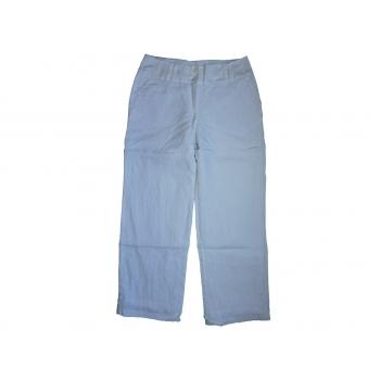 Женские белые льняные брюки ETAM, М