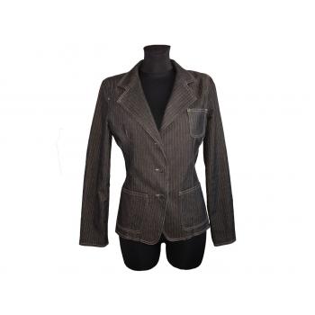 Женский коричневый джинсовый пиджак в полоску TALLY WEIJL