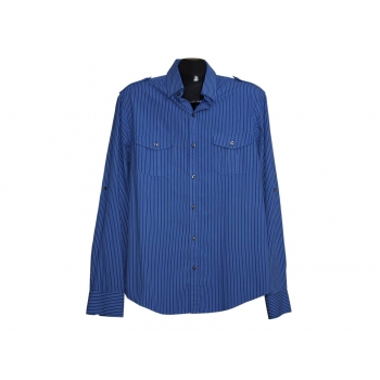 Мужская синяя в полоску рубашка RIVER ISLAND