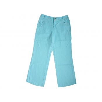 Женские голубые льняные брюки ESPRIT, S