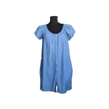 Женское голубое платье с коротким рукавом