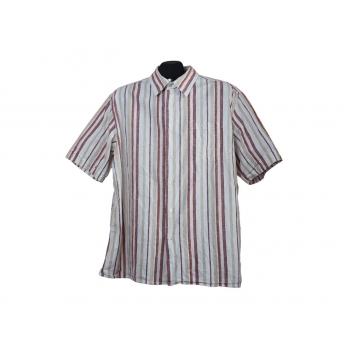 Мужская льняная рубашка в полоску REDWOOD, L