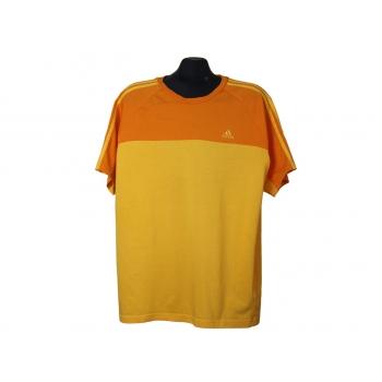 Желто-оранжевая мужская футболка ADIDAS