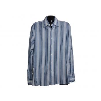 Мужская голубая рубашка в полоску BC COLLECTION