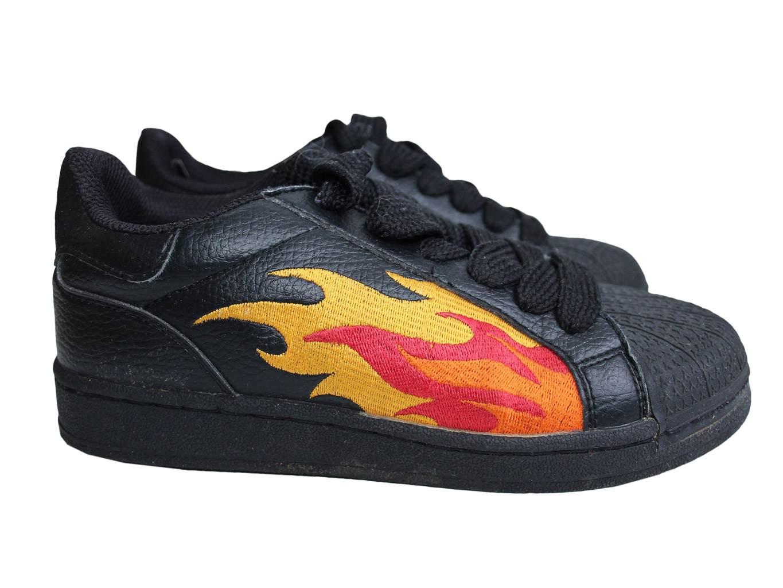Черные детские кроссовки SUPERSTAR на мальчика 11-15 лет