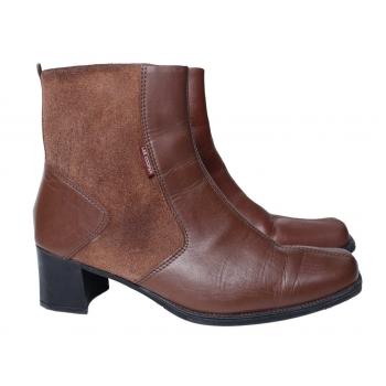 Женские коричневые кожаные ботинки LEE COOPER 37 размер