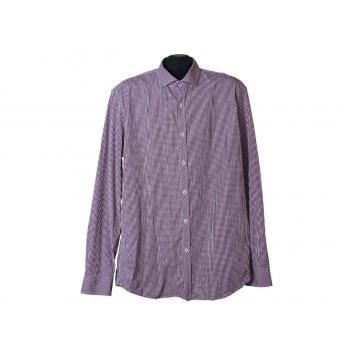 Мужская бордовая рубашка в клетку WE, L