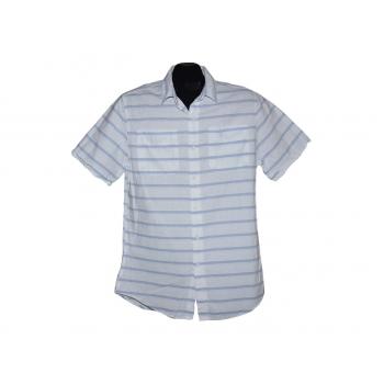 Мужская белая рубашка в полоску TOPMAN, S