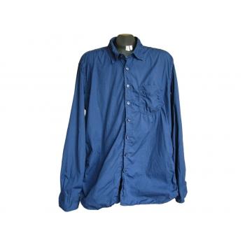 Мужская синяя рубашка HEMA SLIM FIT, L