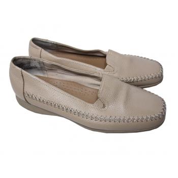 Женские бежевые кожаные туфли MUSHROOMS 36 размер