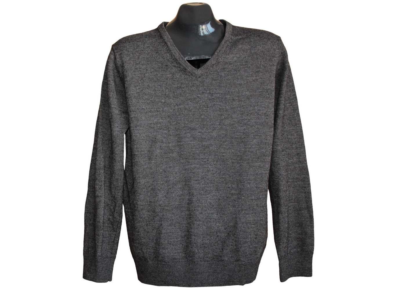 Мужской шерстяной серый пуловер WE, М