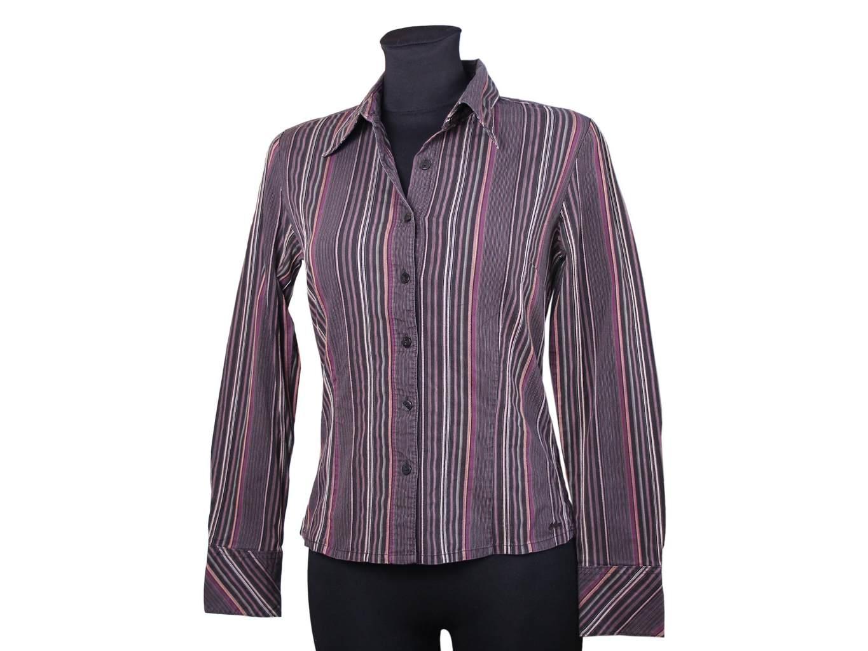 Женская бордовая рубашка в полоску S.OLIVER, XS