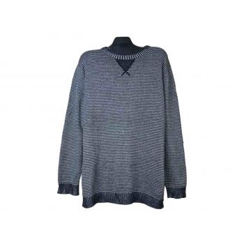 Мужской серый свитер в полоску ESPRIT, XL