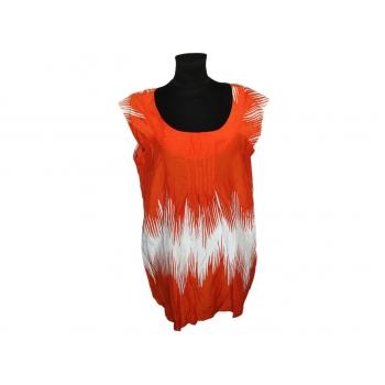 Женская оранжевая шелковая блузка MARKS&SPENCER