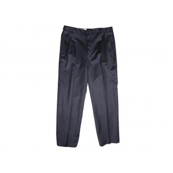 Мужские черные полушерстяные брюки W 32
