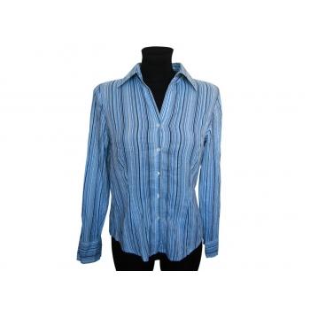 Женская голубая рубашка в полоску LINDEX, S