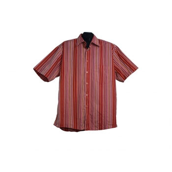 Мужская красная рубашка в полоску PURE, L