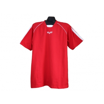 Мужская красная футболка на высокий рост H2O, L