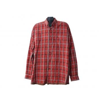 Мужская коричневая рубашка в клетку LERROS, XL