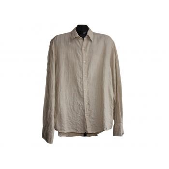 Мужская бежевая льняная рубашка NEXT