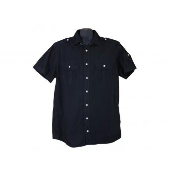 Рубашка мужская черная DRESSMANN, L