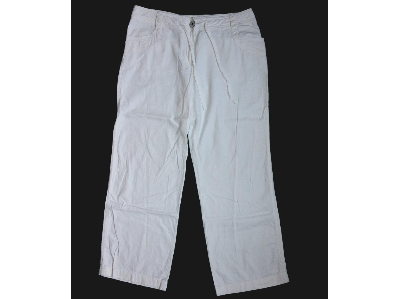 Женские белые льняные брюки NEXT, М