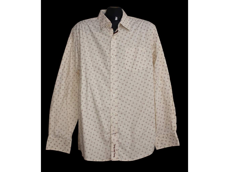 Мужская бежевая рубашка ROCHA JOHN ROCHA, L