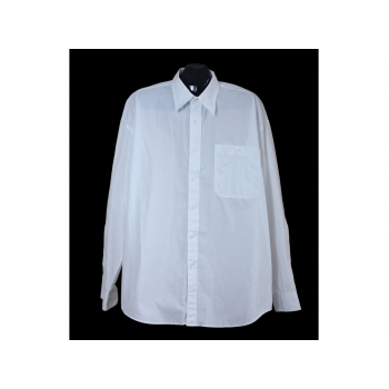 Мужская белая рубашка большого размера, XXL