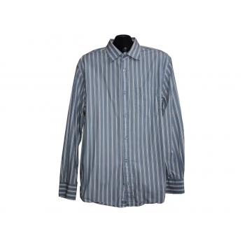Мужская голубая рубашка в полоску WOLSEY, L
