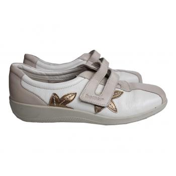 Женские бежевые кожаные туфли HOTTER 36 размер