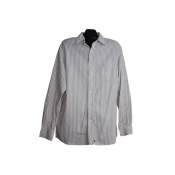 Мужская бежевая рубашка в полоску GAP