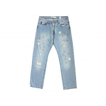 Мужские голубые рваные джинсы W 36 MOTO