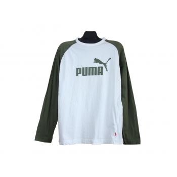 Мужской бело-зеленый реглан PUMA