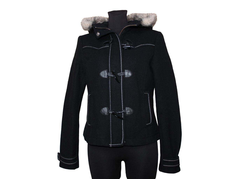 Женское пальто евро зима с капюшоном H&M
