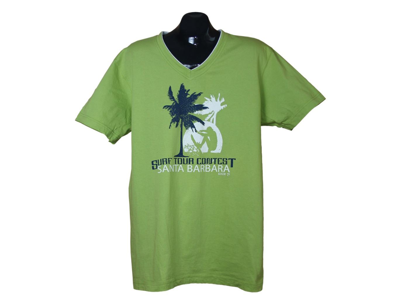 Зеленая мужская футболка ANGELO LITRICO