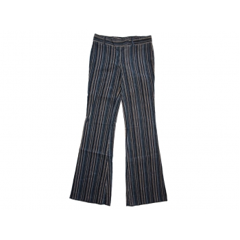 Женские серые в полоску вельветовые брюки WAREHOUSE