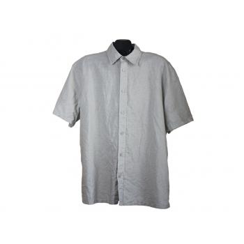 Мужская серая льняная рубашка H&M, XL