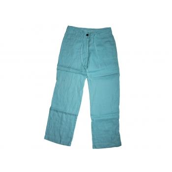 Женские голубые льняные брюки DENIM, XS