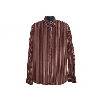 Мужская коричневая рубашка в полоску H&M, L